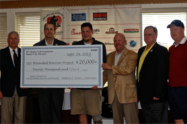 Wounded Warrior Project Golf Tournament   Check Presentation Photo resized 600