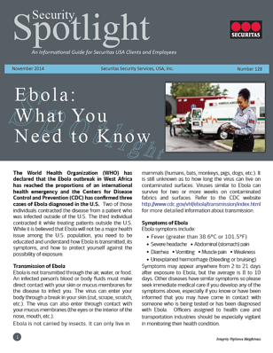Ebola   Security Spotlight
