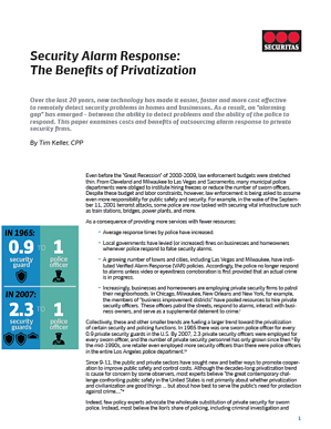 WHITE PAPER   Security Alarm Response   The Benefits of Privatization   COVER resized 600
